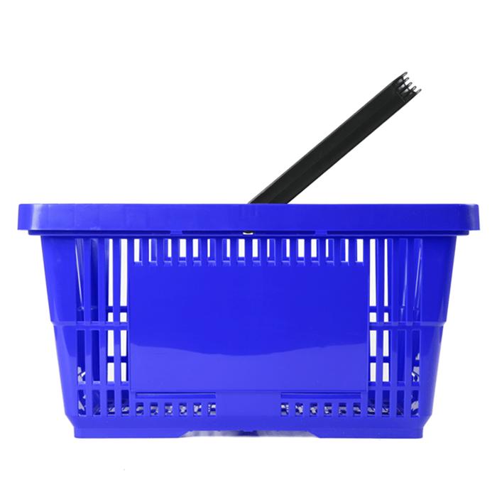 Einkaufskorb blau Kunststoff Einzelgriff