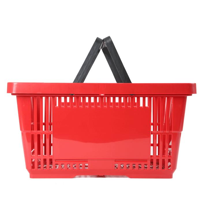 einkaufskorb rot 28 liter doppelgriff