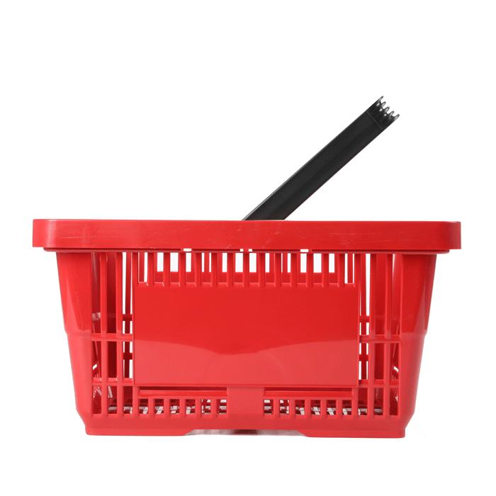 Einkaufskorb Rot Kunststoff 22 Liter Einzelgriff Rewe