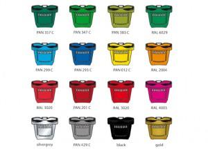Kunststoffkörbe Farbpalette