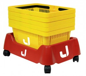 Stapelwagen für Einkaufskörbe