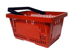 Einkaufskorb Kunststoff Rot 1 Griff 22 Liter