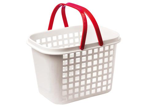 Schleichkorb Kunststoff weiß mit 2 Griffen